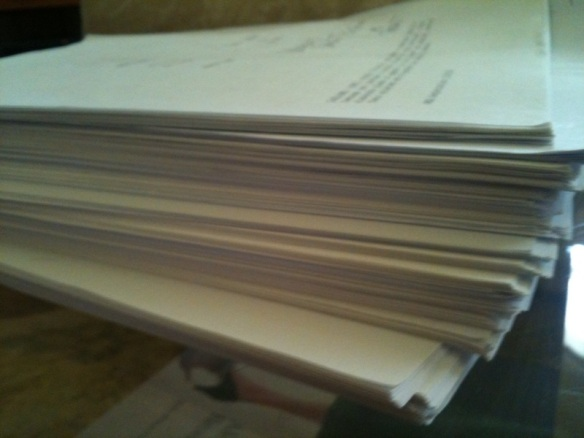 A short stack of drafts that made it to paper ...